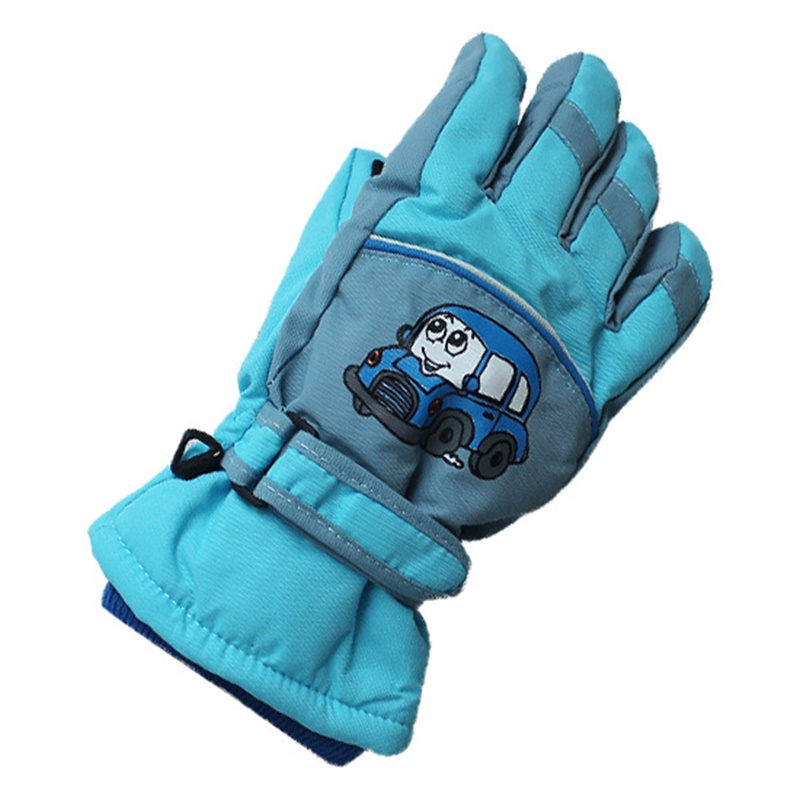 professional ski gloves children waterproof snowmobile gloves warm windproof cycling snowboarding skiing Gloves 4-10 years old