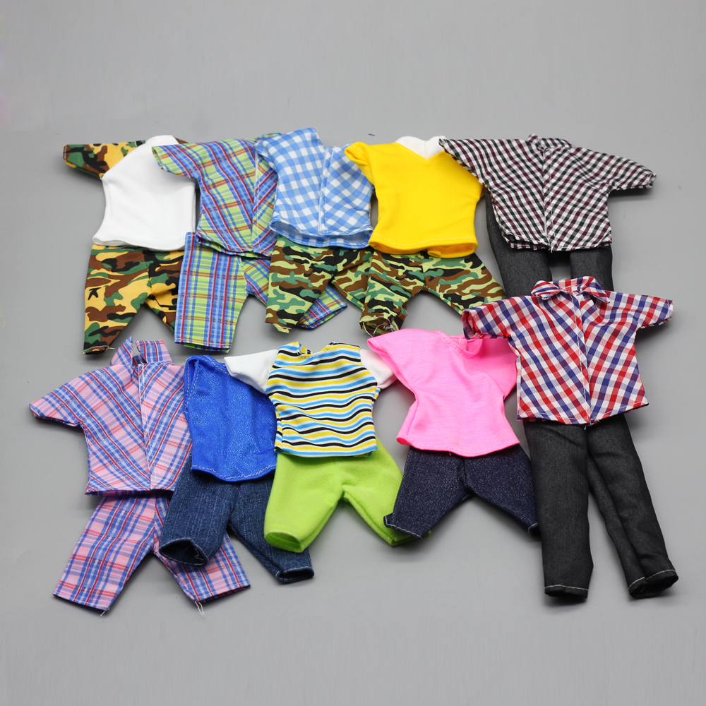 1set Fashion Prince Ken Doll Clothes Fashion Suit Cool Outfit For Doll Boy KEN Doll Best Children's Birthday Presents Gift