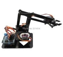 Набор для самостоятельной сборки, акриловый робот рука с когтями, модель 4DOF, игрушки, механический захват, манипулятор, Обучающий набор «сделай сам» для Arduino, 1 комплект