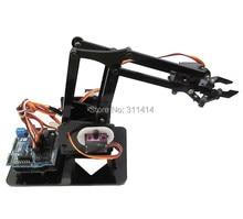 1 セット DIY アクリルロボットアームロボット爪キット 4DOF モデルおもちゃ、機械グラブマニピュレータ DIY 学習キット Arduino のための