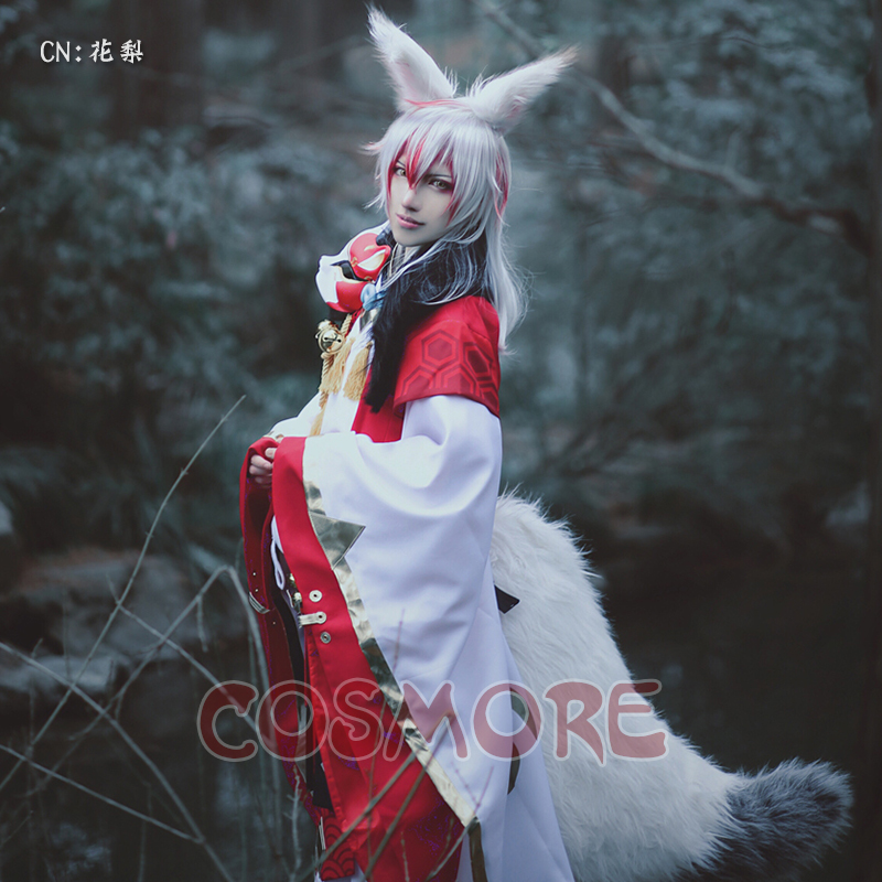 Hand Tour Yin-Yang Division Costplay Costume Fox Fairy Cosplay Costume Full Set Shoe Size Need to Contact Us
