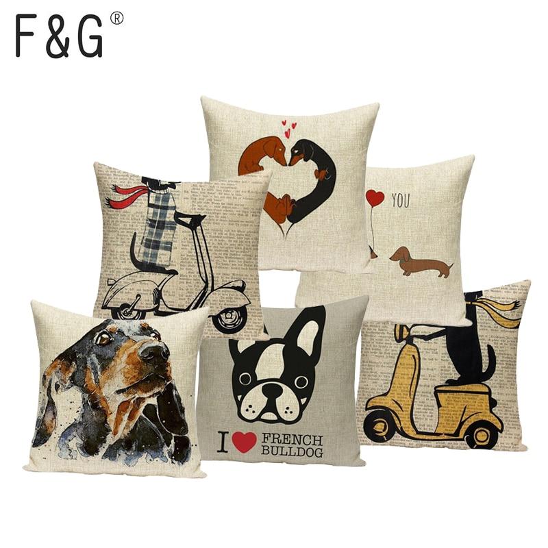 Throw Pillow Case Cushion Cover Pillowcase for Sofa Car Cartoon Animal G