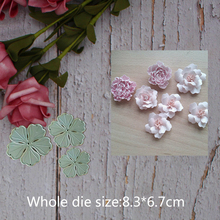 flowers decoration Metal steel frames Cutting Dies DIY Scrap booking Photo Album Embossing paper Cards8.3*6.7cm
