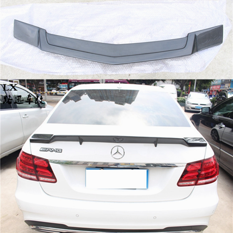 Mercedes W212 renntech style carbon fiber rear trunk wings spoiler
