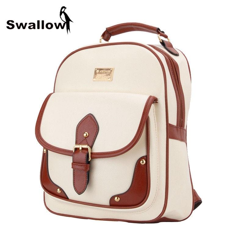 2017 Fashion Women Backpack Leather School Bags For Teenage Girls Mochila Feminina Bolsos Mujer Thread Travel