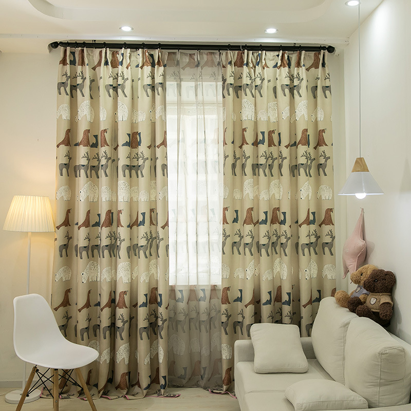 Buy byetee window curtain for kids - Childrens bedroom blackout curtains ...