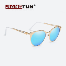 JIANGTUN 2017 New Cat Eye Polarized Sunglasses Women Brand Designer Retro Mirror Lens Luxury Glasses Gafas De Sol