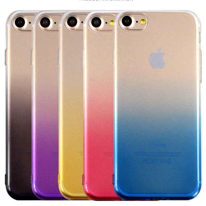 For iPhone Xs Max XR XS X Case Gradient Colorful Clear Soft Back Cover For iPhone 7 6 6s 8 Plus 5 5s SE Phone Cases
