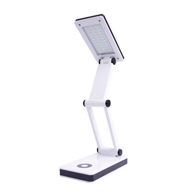 Foldable Lamp Rechargeable Desk Table Light Portable 30 LED Book Reading Lamp White For Home Study Room Lighting Supplies