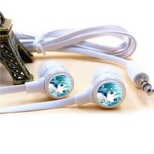 Anime Hatsune Miku Fone de ouvido 3.5mm Estéreo Com Fio Fones De Ouvido Microfone Fones de ouvido de Telefone para O Iphone Samsung Xiaomi VIVO MP3 PSP