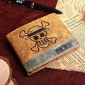 PU wallet printed with Japan Anime ONE PIECE Monky D Luffy's skull
