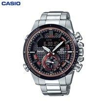 Наручные часы Casio ECB-800DB-1AEF мужские с кварцевым хронографом на браслете