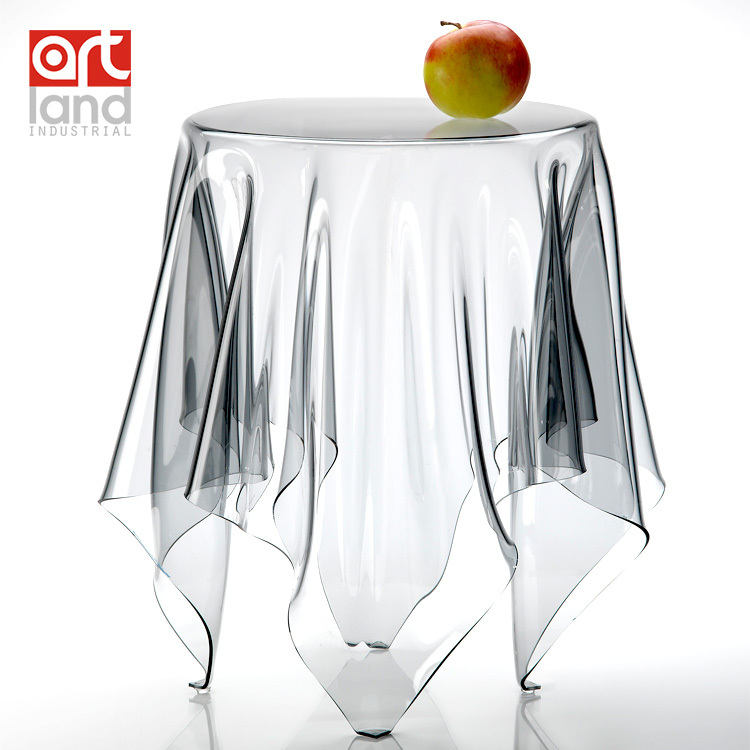 Transparent Plastic Coffee Table ,color:clear, Small Size, DIA30cm,H42cm, Part 49