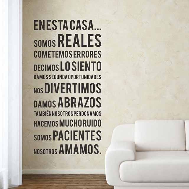 Spanish Wall Decals With Quotes Mural Stickers Mas Vinyl Wall Decals For  Home Decor Spanish Christian Wall Decals Adn