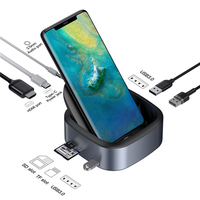 USB Mobile TYPE C Dock Dex Pad Type C to USB3.0 HDMI HUB PD Fast Charging Docking Power Adapter For HUAWEI Samsung Smart phones