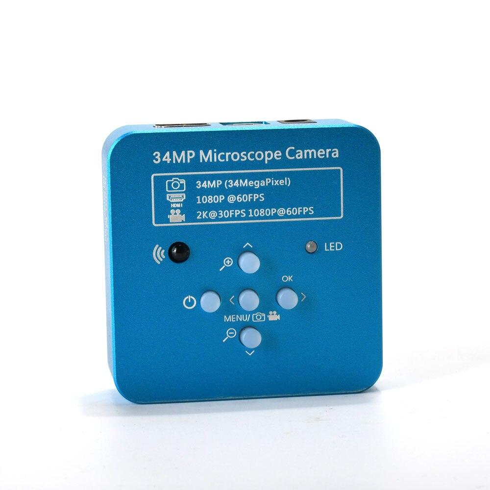34MP 1080P Digital Video HDMI Microscope Camera C-mount Lens for PCB Soldering Repair Dual Display Output