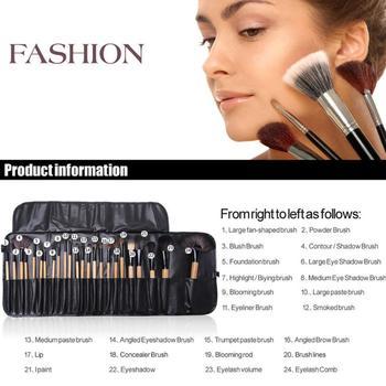 24Pcs Makeup Brushes Cosmetic Tool Kits Professional Eyeshadow Powder Eyeliner Contour Brushes Set Case Bag Cosmetic Brushes 2