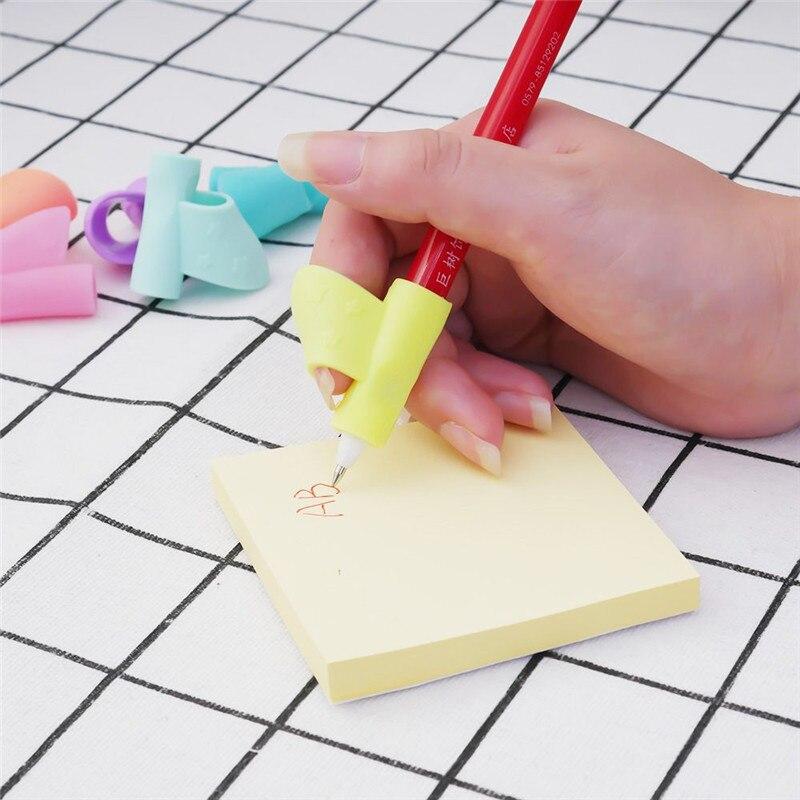 Прямая доставка 3 шт./упак. силиконовые детские ручки корректор Детские обучающие игрушки письменная осанка инструмент держать ручку корре...