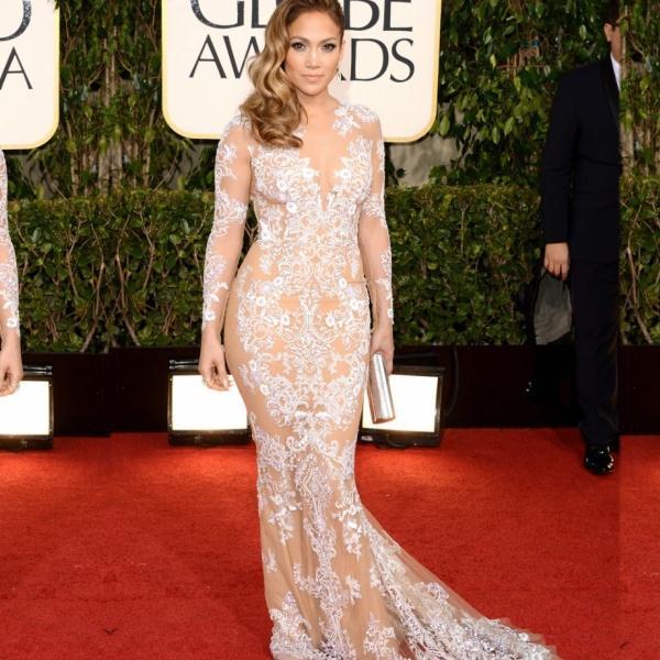 Jennifer Lopez Nude Sexy Mermaid Tulle Long Sleeve Celebrity