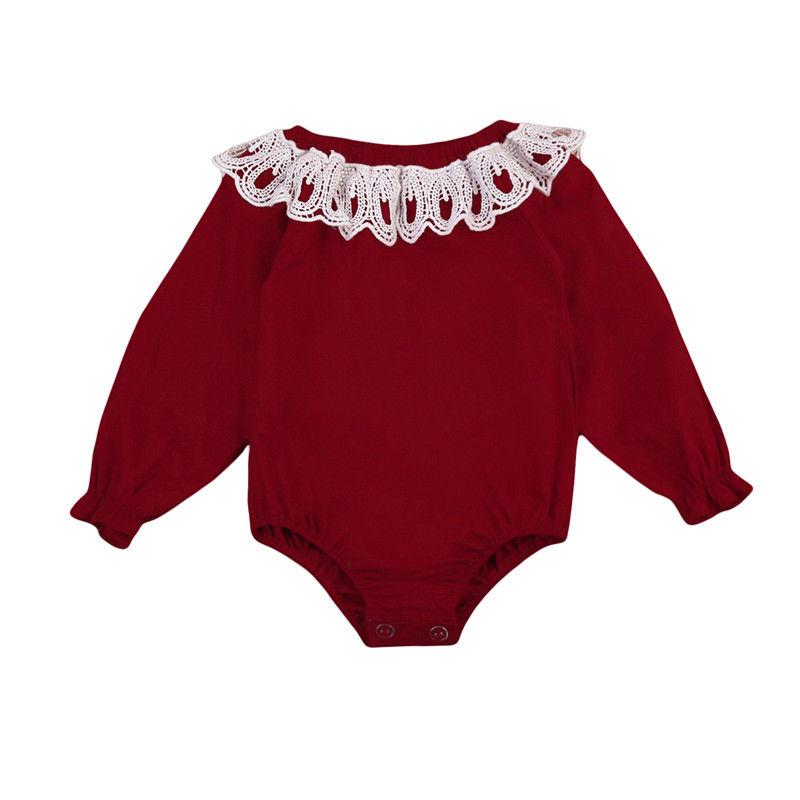 Для новорожденных для маленьких девочек боди с длинными рукавами комбинезон Одежда для малышей на осень для 0-24 м