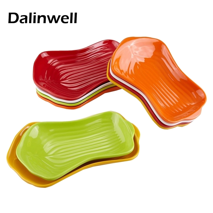 juego de vajilla de melamina placas en forma de calabaza de color slido buffet bandeja de