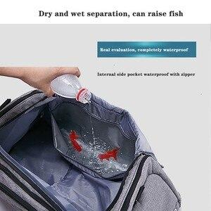 Image 4 - Сухая и влажная разделительная сумка через плечо, сумка для спорта, фитнеса, сумка для бизнеса, багажа, одежда, обувь, сумка для хранения, аксессуары, Органайзер