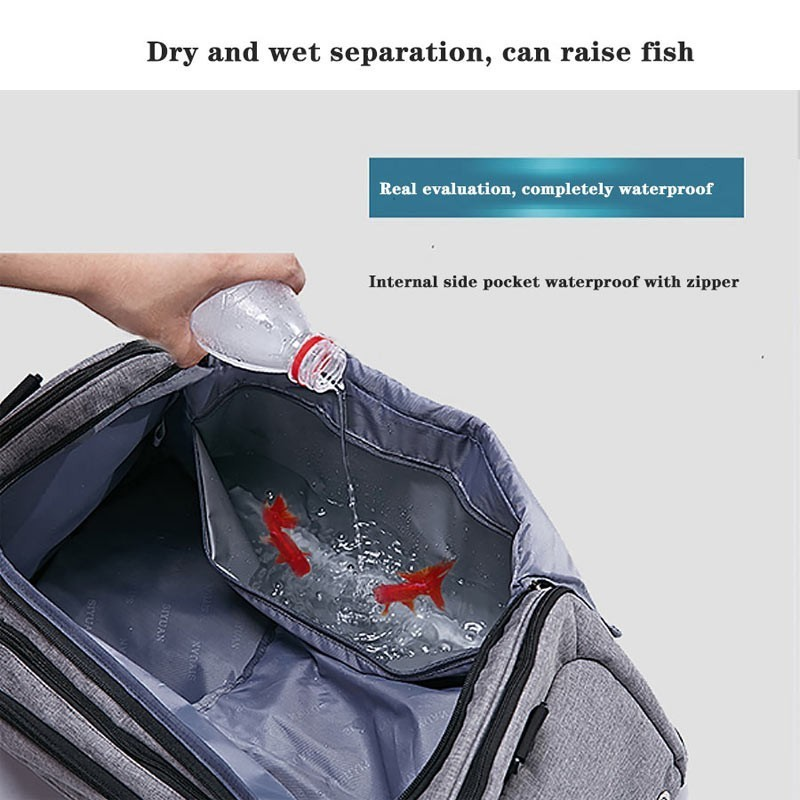 Image 4 - Dry And Wet Separation Shoulder Bag Handbag Sports Fitness Bag Business Luggage Clothes Shoes Storage Bag Accessories Organizer-in Storage Bags from Home & Garden