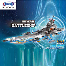 2019 New XINGBAO 13001 Toys 8 IN 1 Series The Universe Battleship Set Model Building Blocks Kids Toys As Christmas Gifts xingbao 01402 new genuine building series the future dreams house set building blocks educational kid toys as christmas gifts