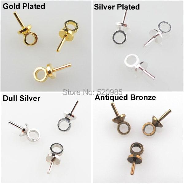(100Pcs=1lot) Eye Pin Pearl Pendant Charm Connector Bail 2.5x6.5mm Gold Silver Nickel Bronze PlatedCup DIY No.CN021(100Pcs=1lot) Eye Pin Pearl Pendant Charm Connector Bail 2.5x6.5mm Gold Silver Nickel Bronze PlatedCup DIY No.CN021