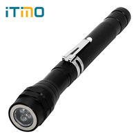 ITimo Multifunctional Magnetic Flexible Neck Waterproof Pick Up Tool LED Flashlight Lantern Telescopic Mini Portable Light