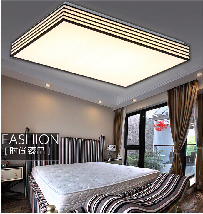 Free shipping modern led ceiling lights lamp for living room,bedroom,white+black abajur dimmable RC control lamparas de techo new indoor lighting modern led ceiling lights for living room bedroom lamp lamparas de techo abajur ceiling lamp fixtures