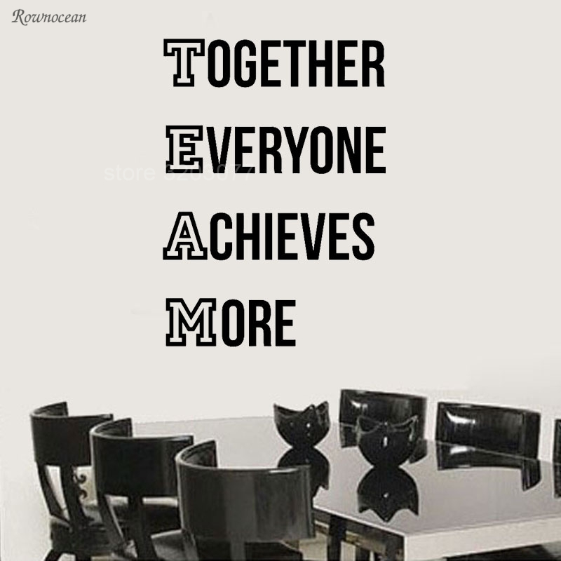 Together Everyone Achieve More Team Quotes Vinyl Art Wall Decal Sticker Office Decor Modern Interior Removable Mural A349