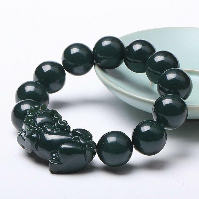 Pure natural jades carved bracelet fashionable jewelry Hetian jades green jades mink bracelet couple style hand jewelryPure natural jades carved bracelet fashionable jewelry Hetian jades green jades mink bracelet couple style hand jewelry