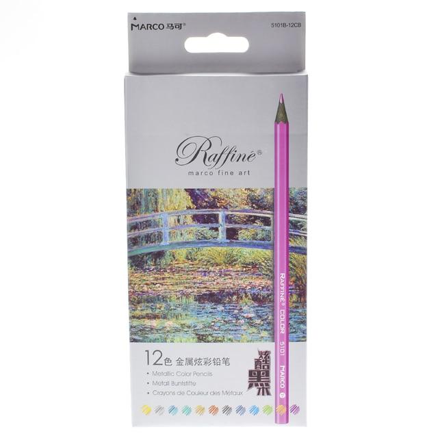 12pcs Metallic Non-toxic Drawing Pencils Drawing Sketching Finest Wax Color Crayon 12 Colors Drawing Pastel Wholesale