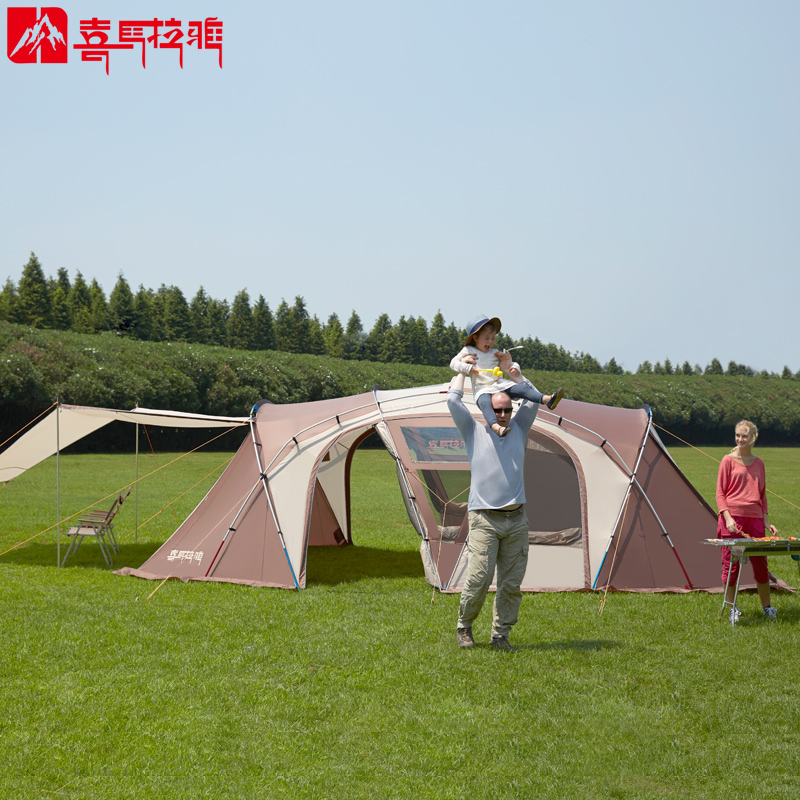 HIMALAYA Family C&ing Tent 8 Persons Multiplayer Anti rainstorm Travelling by car Waterproof Ripstop for C&ing u0026 Hiking-in Tents from Sports ... & HIMALAYA Family Camping Tent 8 Persons Multiplayer Anti rainstorm ...
