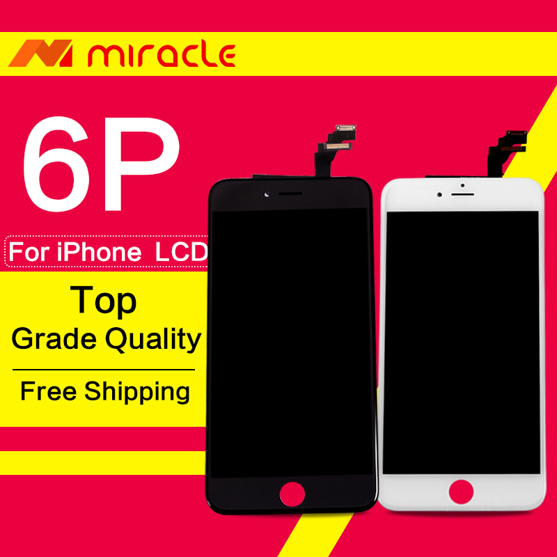 Prix pour Pour iphone 6 plus lcd écran tactile blanc remplacement 5.5 pouce affichage grade aaa qualité digitizer assemblée livraison gratuite