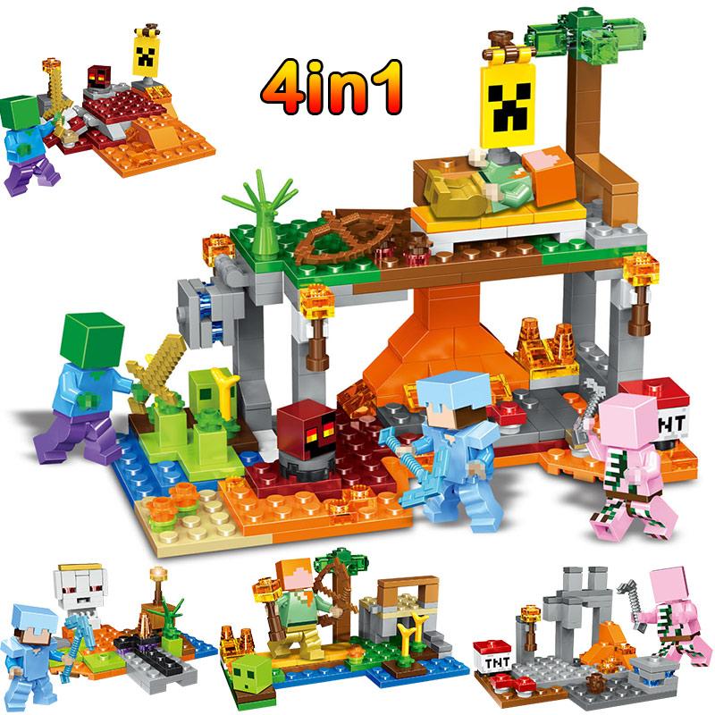 Figures, Compatible, Minecrafted, Hunt, Gifts, Toys