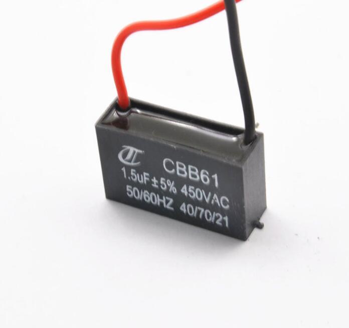 1 STÜCKE Fan kondensator CBB61 1,5 UF startkondensator 450 V 400 V ...