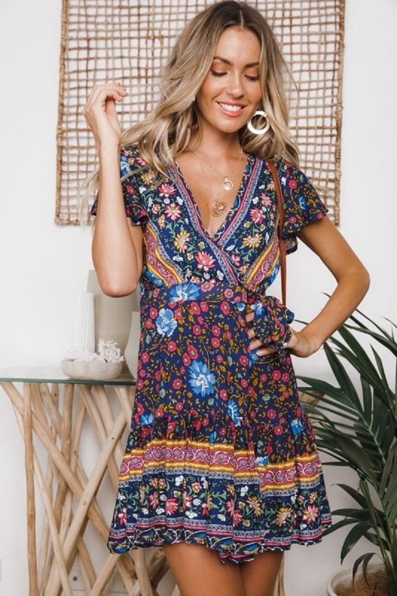 33 vieunsta vintage floral imprimir praia vestido de verão das mulheres novas com decote em v plissado uma linha de mini vestido elegante vestido plissado vestido de verão cinto - HTB1MvTSaJjvK1RjSspiq6AEqXXaH - VIEUNSTA Vintage Floral Imprimir Praia Vestido de Verão Das Mulheres Novas Com Decote Em V Plissado Uma Linha de Mini Vestido Elegante Vestido Plissado Vestido de Verão Cinto