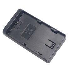 Mcoplus para canon lp-e6 para f570/f770/f970 batería adaptador/convertidor de soporte de la luz led para canon para sony batería