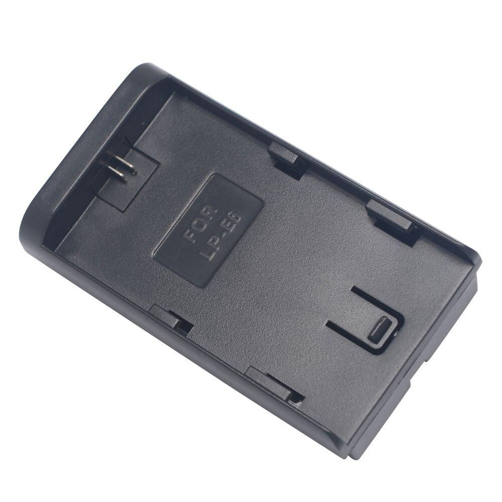 Mcoplus pour Canon LP-E6 à F570/F770/F970 adaptateur de batterie/convertisseur de support lumière LED pour Canon à pour batterie Sony