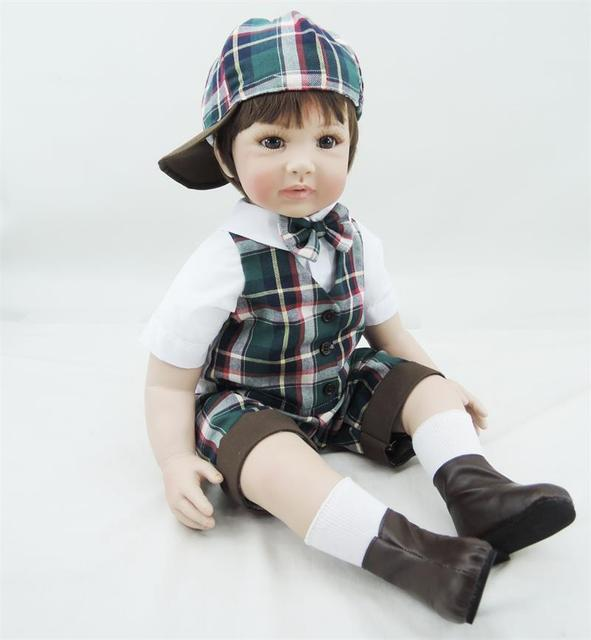 60cm vinyl silicone reborn baby doll toys lifelike simulated toddler reborn boy girl doll new year