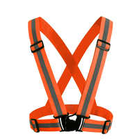 Dropshipping High Visibility Safety Vest Reflective Elasticity Belt Safety Vest Fit For Running Cycling Sports Outdoor Clothes