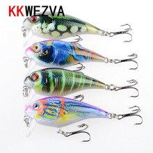 KKWEZVA 9G 5.5cm New Temptation Fishing Lures Minnow Crank Bait Crankbait Bass Tackle Treble Hook bait wobblers fishing