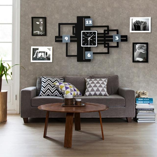 20 zoll Große Wanduhr Mit Foto Rahmen Größeren Wohnzimmer Mode ...