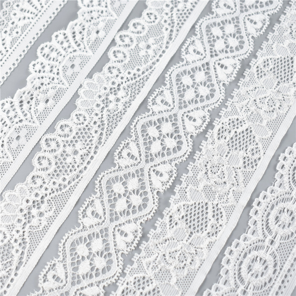 HTB1MvUUqbuWBuNjSszgq6z8jVXai 5Yard/Lot High Quality White Elastic Lace Ribbon Trims Underwear Lace Trim Embroidered For Sewing Decoration african lace fabric