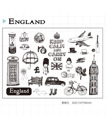 WYF424 11x16cm England brand new Scrapbook DIY Photo Album Account Transparent Silicone Rubber Clear Stamps