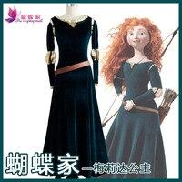 Medieval Victorian Renaissa Merida Princess Dress Brave Legend Costume Cosplay Women's Halloween Carnival Birthday Party Cosplay