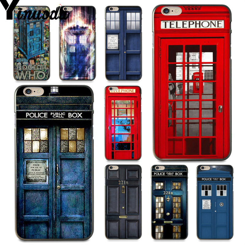 Yinuoda For Iphone 7 6 X Case Doctor Who Phone Booth Police Box 221b Door Phone Case For Iphone 7 6 X 8 6s Plus 5s Se Xr Xs Max Rich And Magnificent Phone Bags & Cases