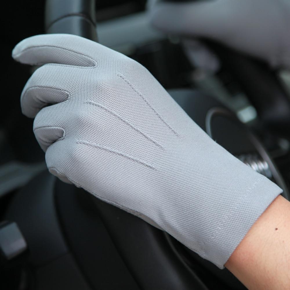 2018 Summer Sun Gloves Men'S Thin Section Breathable Non-Slip Outdoor  Driving Full Finger Gloves SZ010W1-3